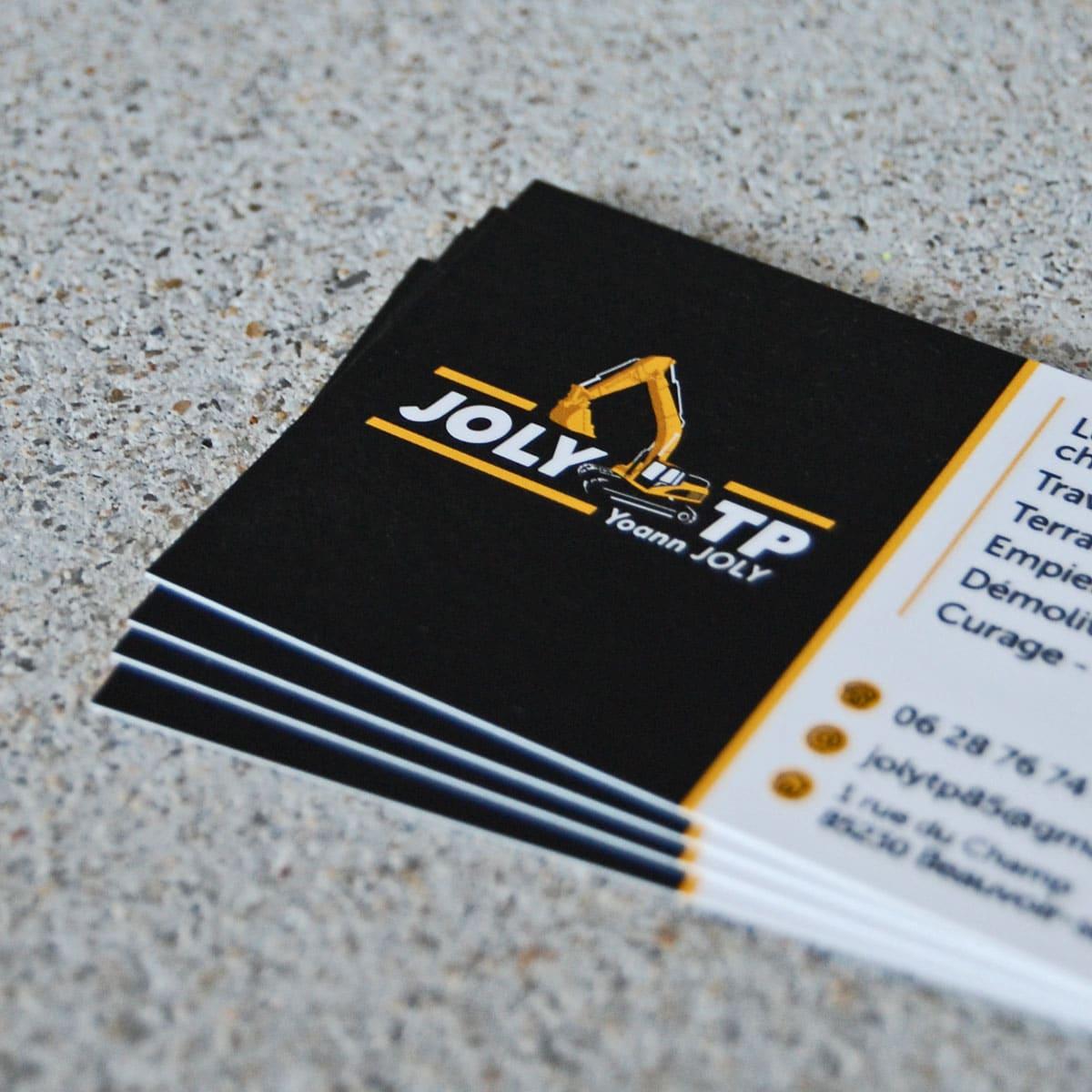 Création de logo - Joly TP à Beauvoir sur Mer