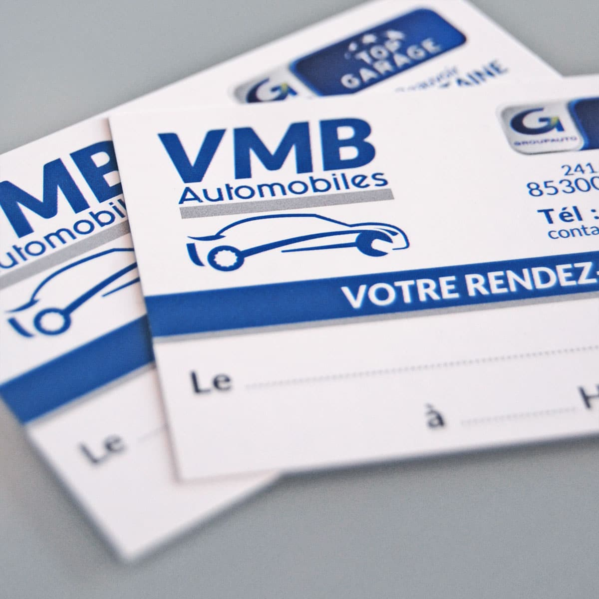 Carte de rendez-vous - VMB Automobiles - Sallertaine