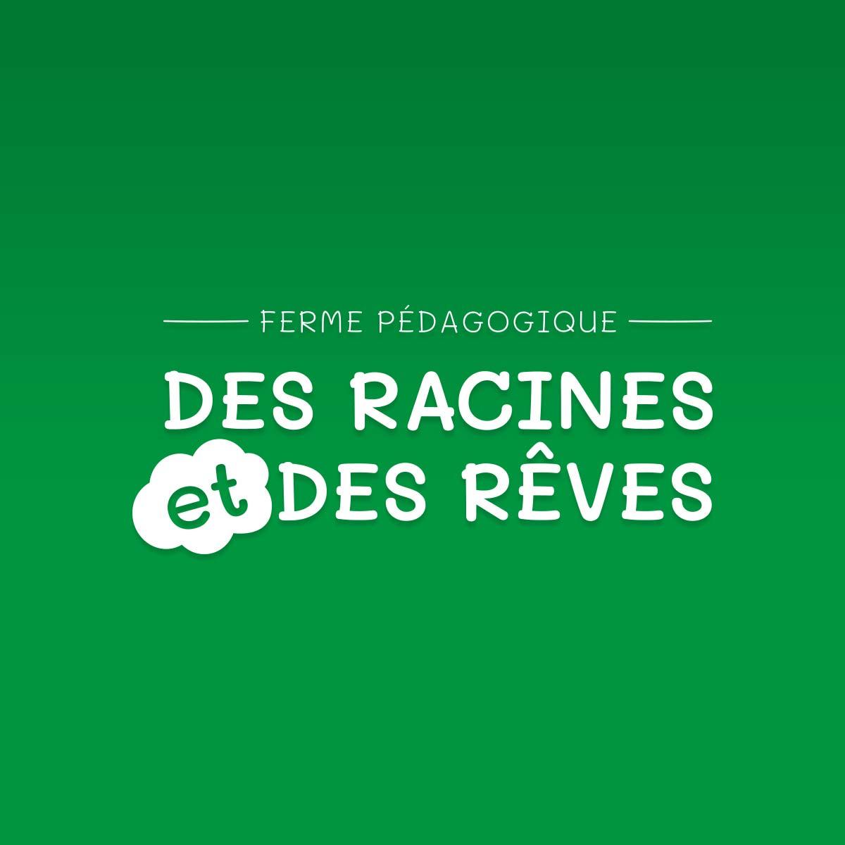 Logo de la ferme pédagogique sur fond vert