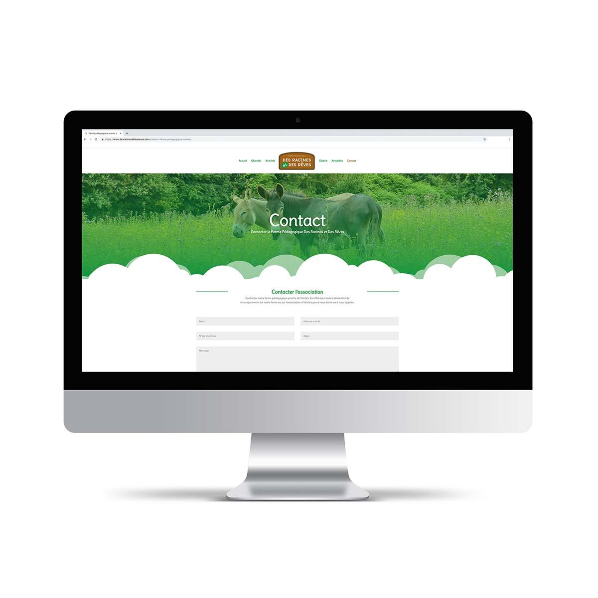 Site internet association Des Racines et Des Rêves