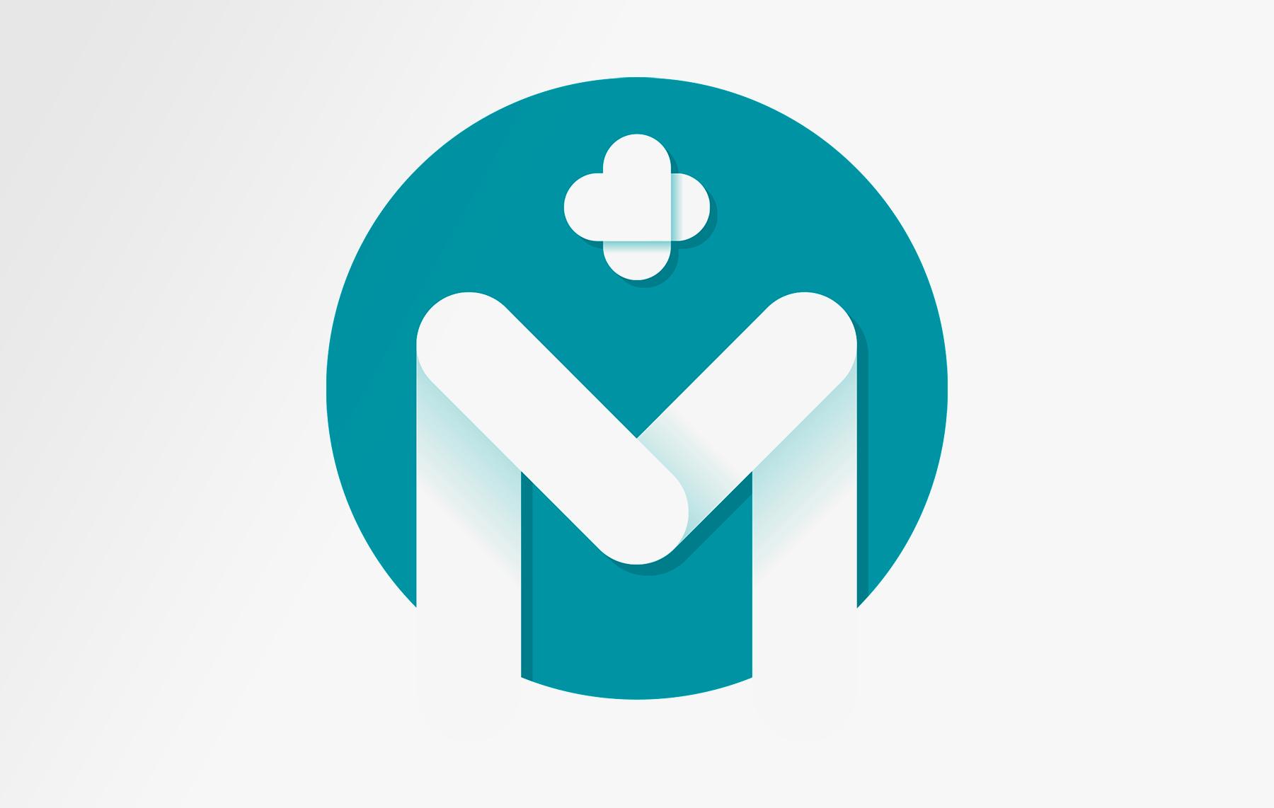 Monogramme logo médical