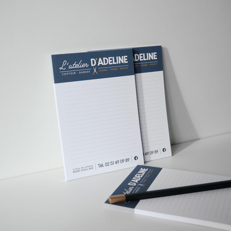 Bloc note personnalisé - Atelier Mile - Vendée