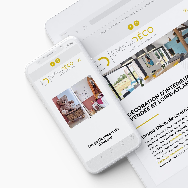 Site Internet Decoration Intérieure création de site internet : emma déco en vendée - atelier mile